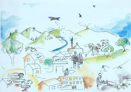 Calais - Tell al-Haarrah drawing - 18 July 2015